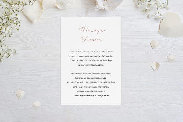 Dankeskarten zur Hochzeit Klassich Verbunden Dankeskarten