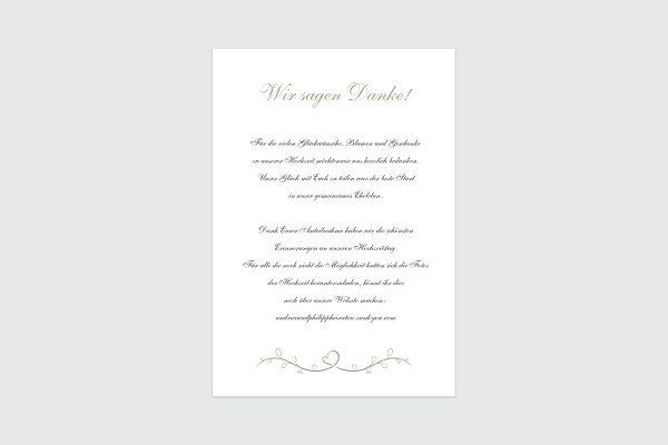 Dankeskarten zur Hochzeit Tender Love  Blau ist die Liebe Dankeskarten