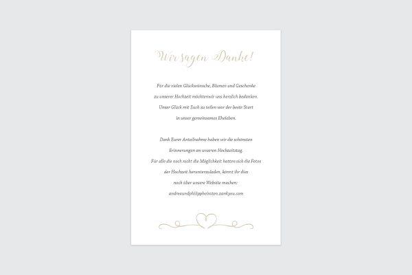 Dankeskarten zur Hochzeit Tender Love  Liebe Dankeskarten