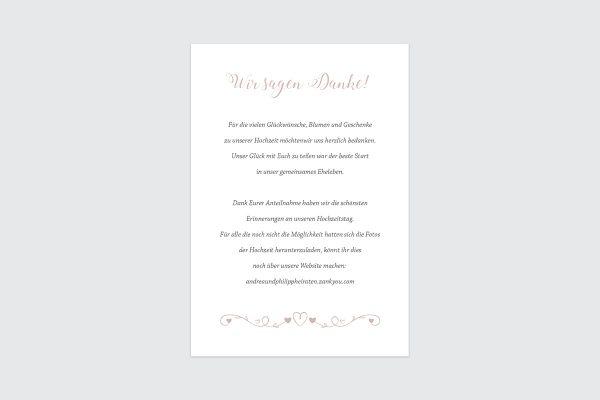 Dankeskarten zur Hochzeit Tender Love  Verspielte Liebe Dankeskarten