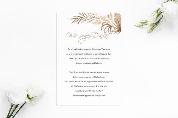 Dankeskarten zur Hochzeit Zeichnung Ausgefallen Dankeskarten