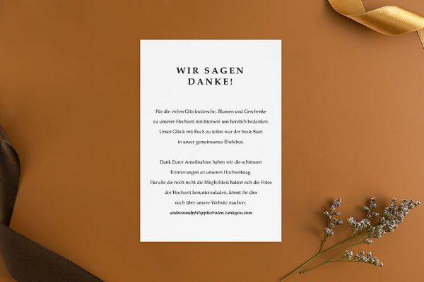 Dankeskarten zur Hochzeit Modern Monogramm Dankeskarten