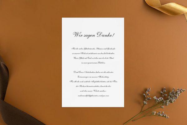 Dankeskarten zur Hochzeit Modern Schlicht Dankeskarten