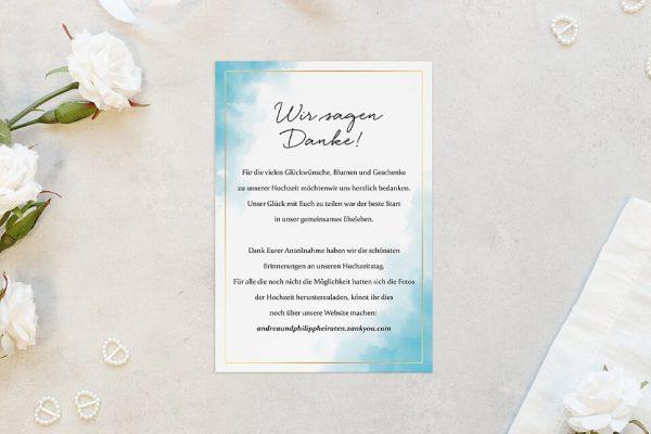 Dankeskarten zur Hochzeit Himmel Wolkig Dankeskarten