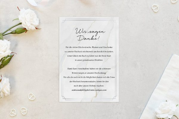 Dankeskarten zur Hochzeit Batik Mittelalterlich Dankeskarten