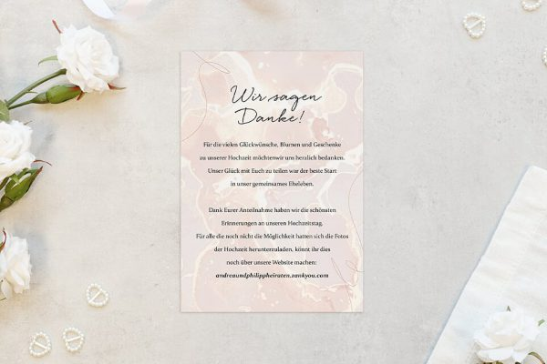 Dankeskarten zur Hochzeit Aprikosen Explosion Schick Dankeskarten