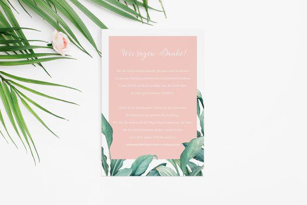 Dankeskarten zur Hochzeit Tropical Topisch wild Dankeskarten