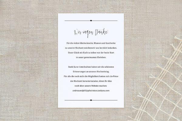 Dankeskarten zur Hochzeit Fotoglück Fotoglück Pünktchen Dankeskarten