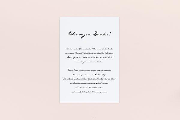 Dankeskarten zur Hochzeit Minimalistisch Smooth Jazz Dankeskarten