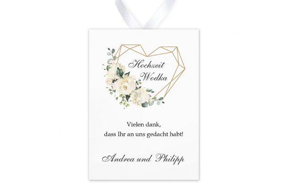 Aufkleber und Anhänger Hochzeit Blumenherz Duftend Aufkleber & Etiketten Hochzeit