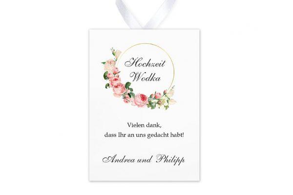 Aufkleber und Anhänger Hochzeit Blumenherz Aromatisch Aufkleber & Etiketten Hochzeit