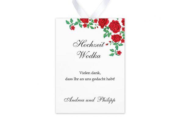 Aufkleber und Anhänger Hochzeit Blumenherz Rote Rosen Aufkleber & Etiketten Hochzeit