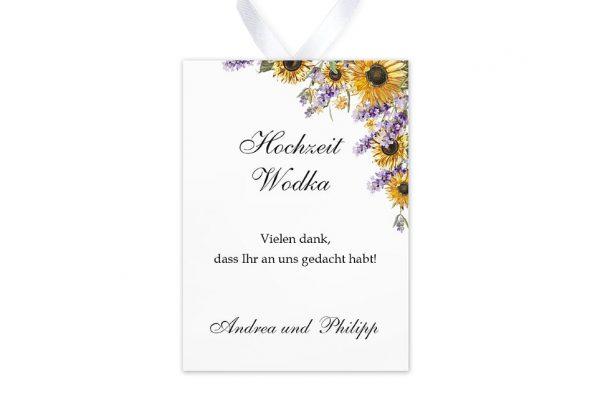 Aufkleber und Anhänger Hochzeit Blumenherz Sonnenblumen Aufkleber & Etiketten Hochzeit