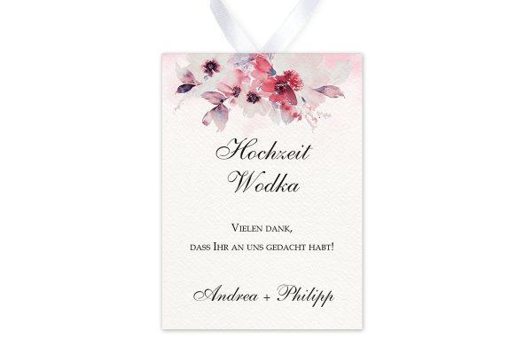 Aufkleber und Anhänger Hochzeit Aquarell Rosa Aufkleber & Etiketten Hochzeit