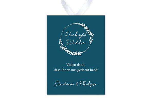 Aufkleber und Anhänger Hochzeit Aufnahme mit einfachem Kranz Aufkleber & Etiketten Hochzeit