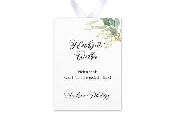 Aufkleber und Anhänger Hochzeit Greenery Golden Aufkleber & Etiketten Hochzeit