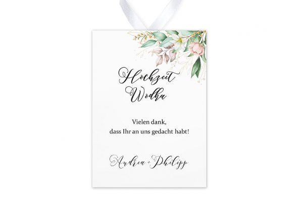 Aufkleber und Anhänger Hochzeit Greenery Fliessend Aufkleber & Etiketten Hochzeit