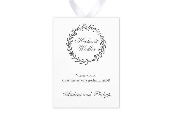 Aufkleber und Anhänger Hochzeit Rosenpracht mit Tannenzweigen Aufkleber & Etiketten Hochzeit