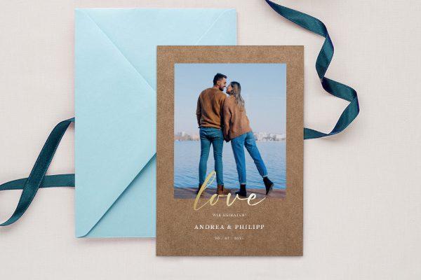Einladungskarten mit Fotos Hochzeitseinladungen Modern Bast Aktuell