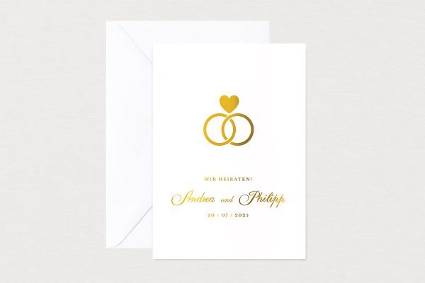 Hochzeitseinladungen Hochzeitseinladungen Herzensangelegenheit in Ringform
