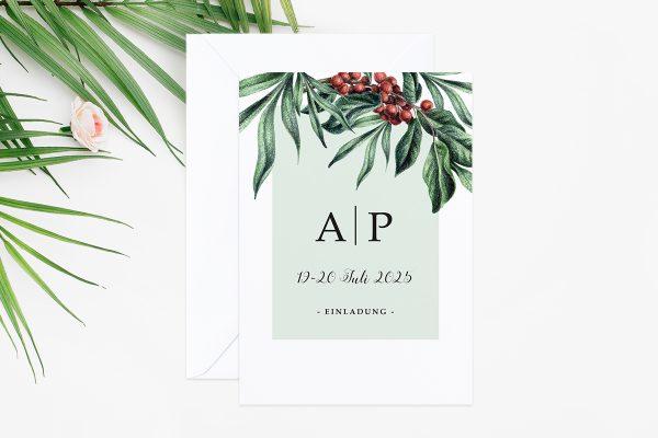Hochzeitseinladungen Hochzeitseinladungen Tropical Sorbus Aucuparia