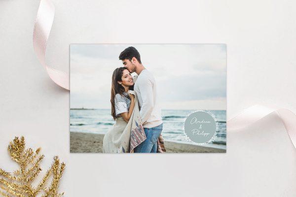 Einladungskarten mit Fotos Hochzeitseinladungen Runde Sache zart