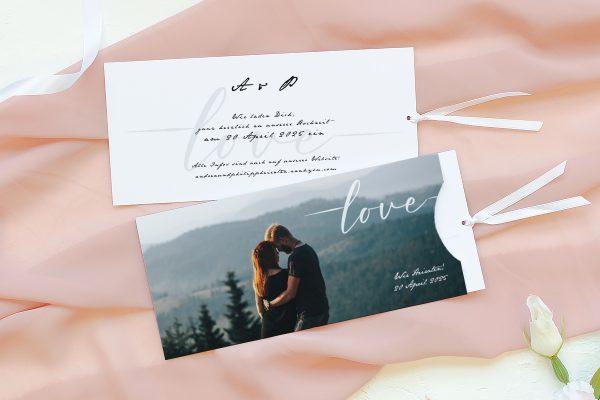 Einladungskarten mit Fotos Hochzeitseinladungen Horizont Weit