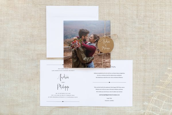 Einladungskarten mit Fotos Hochzeitseinladungen Fotoglück Fotoglück Pünktchen