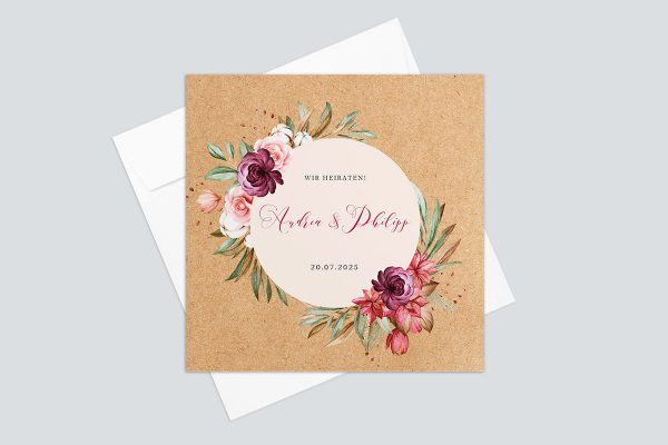Hochzeitseinladungen Hochzeitseinladungen Oleander Bianco Herbstgefühle