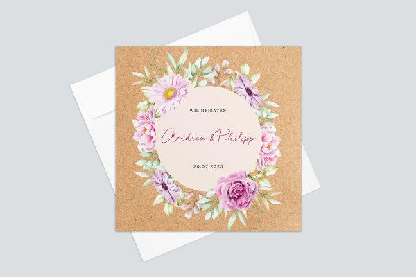 Hochzeitseinladungen Hochzeitseinladungen Oleander Bianco Nerium