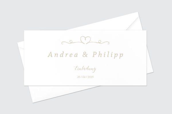 Hochzeitseinladungen Hochzeitseinladungen Tender Love Liebesglück