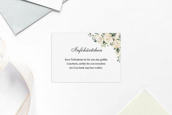 Extras Blumenherz Duftend Hochzeitsinfokärtchen