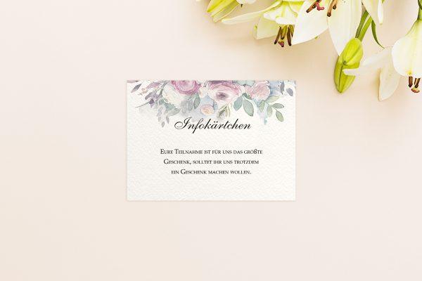 Extras Aquarell Klassisch Hochzeitsinfokärtchen