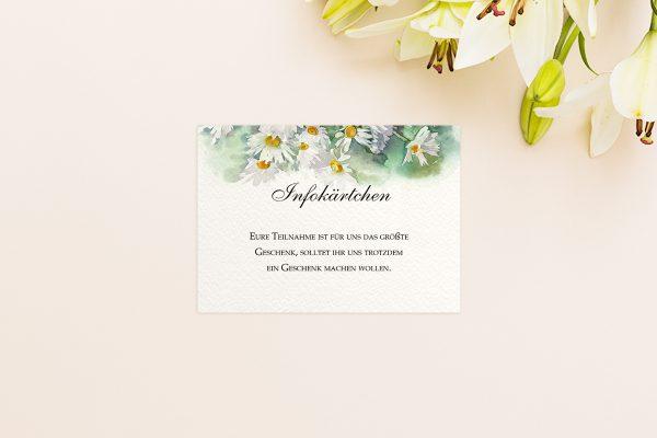 Extras Aquarell Rustikal Hochzeitsinfokärtchen