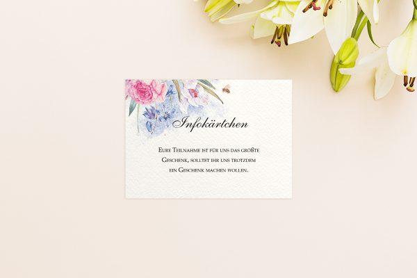 Extras Aquarell edel Hochzeitsinfokärtchen