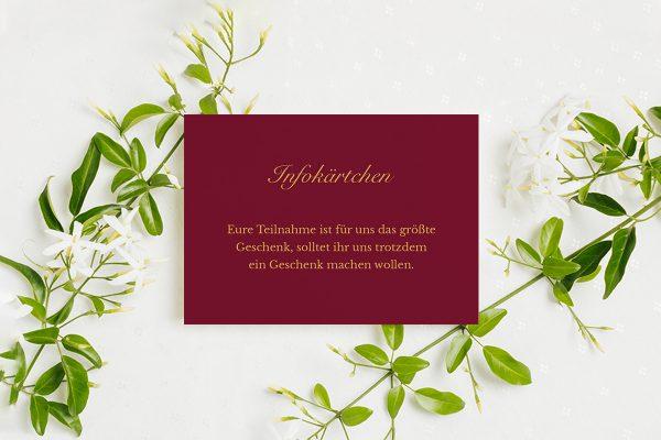 Extras Fotoglam Forever  Hochzeitsinfokärtchen