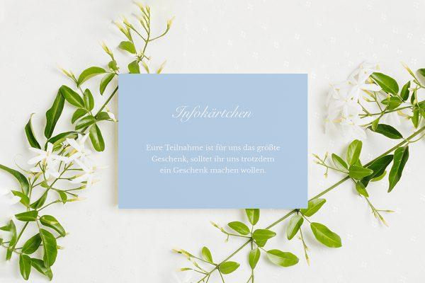 Extras Fotoglam Infinity Hochzeitsinfokärtchen