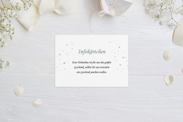Extras Klassich Natürlich Hochzeitsinfokärtchen