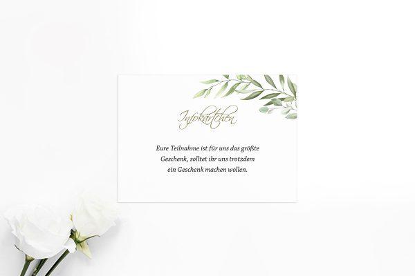 Extras Zeichnung Gemalt Hochzeitsinfokärtchen