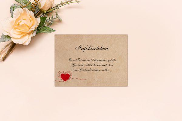 Extras Fingerabdruck Herzensding Hochzeitsinfokärtchen