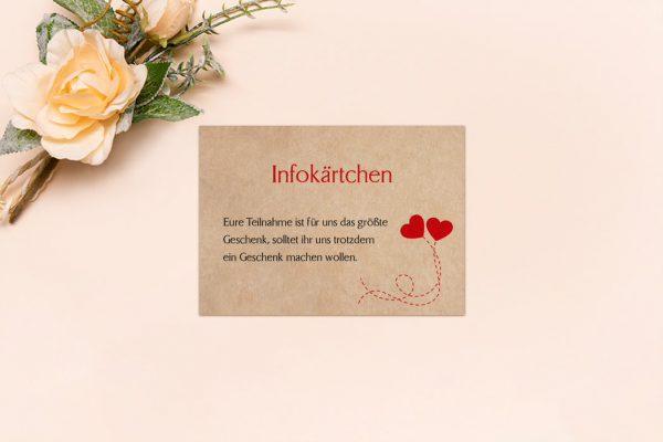 Extras Fingerabdruck Love  Hochzeitsinfokärtchen