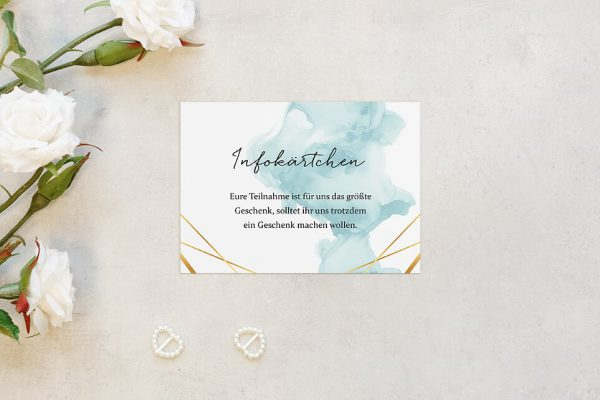 Extras Himmel Strahlend Hochzeitsinfokärtchen