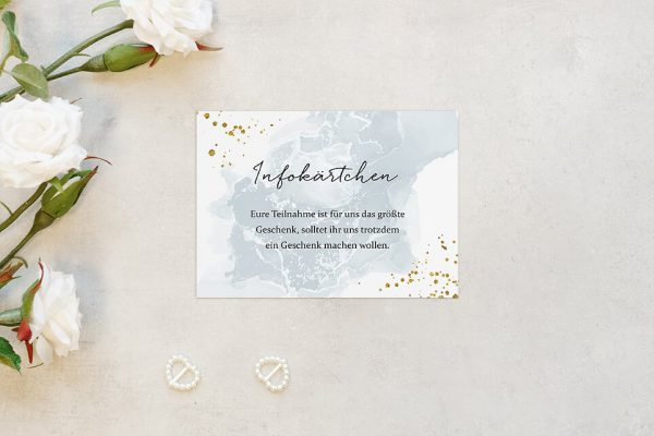Extras Himmel Tiefblau Hochzeitsinfokärtchen