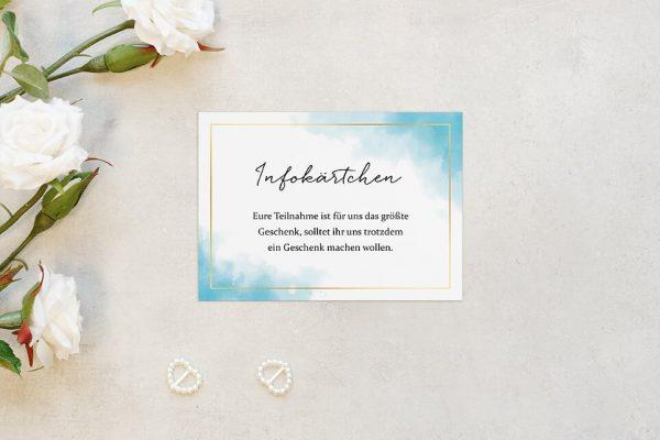 Extras Himmel Wolkig Hochzeitsinfokärtchen