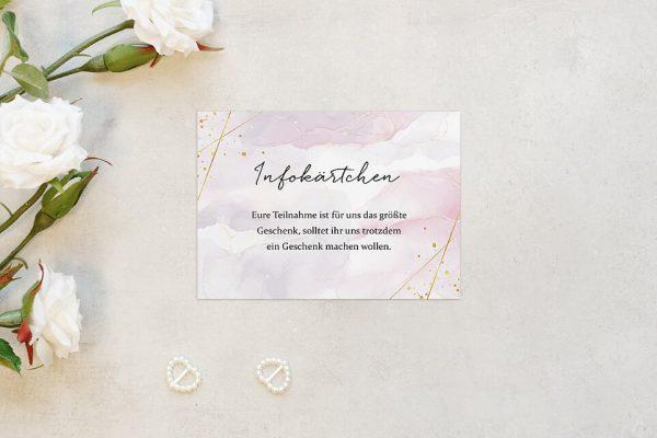 Extras Morgenröte Kräftig Hochzeitsinfokärtchen