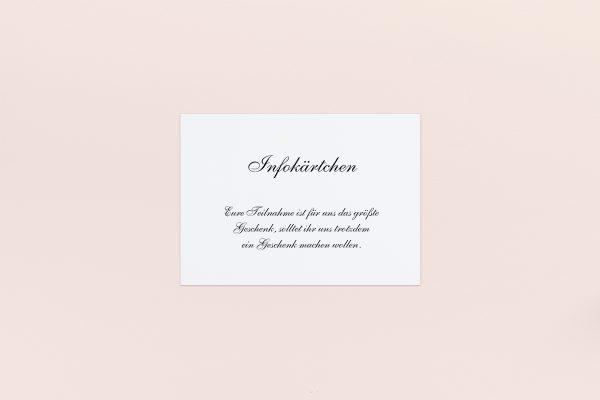 Extras Minimalistisch Sonate Hochzeitsinfokärtchen