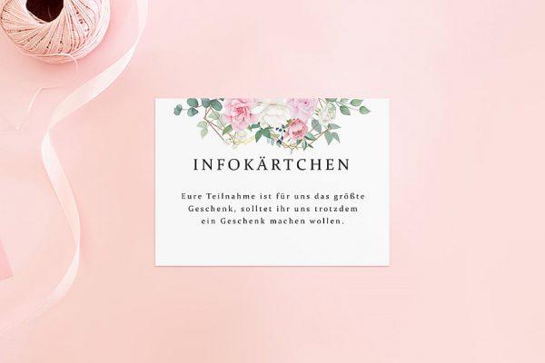 Extras Rosenpracht Gerahmt Hochzeitsinfokärtchen