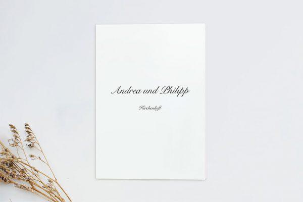Extras Kalligraphie Elegant geschrieben Kirchenheft Hochzeit