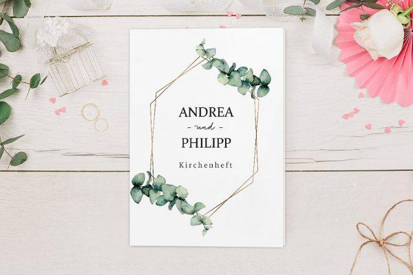Extras Floral Elegant Romantisch Kirchenheft Hochzeit