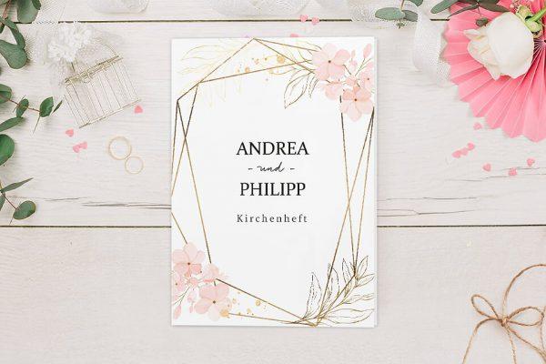 Extras Floral Elegant Blumenzeichnung Kirchenheft Hochzeit
